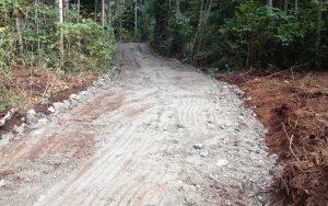 layers of an access road