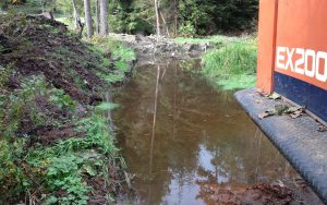 stagnant water to be filled for an access road