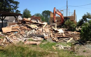 end stages of a house demo