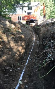 drainage and excavator
