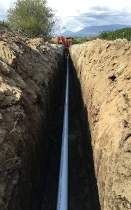 deep drainage piping