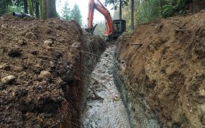 excavation for drainage