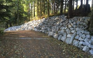 rock wall for erosion control