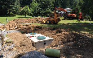view of septic tanks