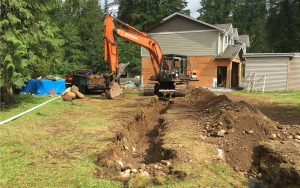 septic trenches for piping