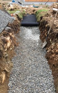 landscape cover onto septic pipes