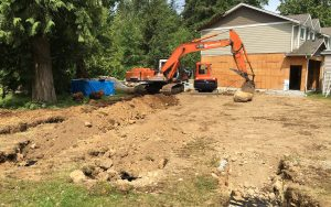 site clean up after septic build