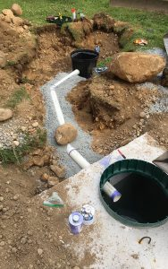 septic tank and drainage pipes