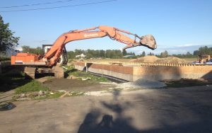 excavator at new home build site