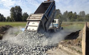 gravel dump for site prep