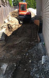 excavator filling